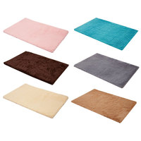 Colorful Synthetic Bathroom Carpet Mat Antiskid Morden Shaggy Area Rug Pad Bathroom Accessories Kit Tapete Para