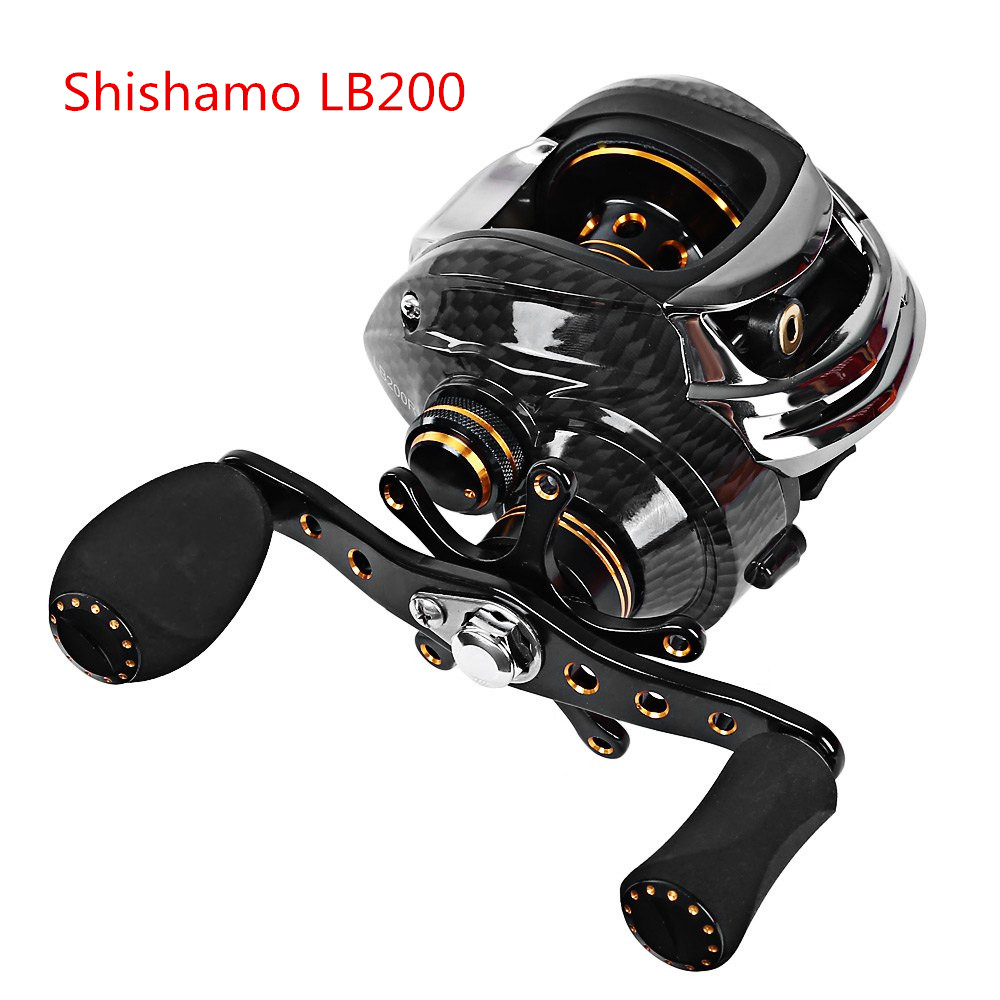 Fishing Reels: Shishamo LB200 Left Hand Right Hand Fishing Bait Casting Reel with One Way Clutch Ultra Light Fishing Reel Baitcaster Coil