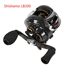 Shishamo LB200 Left Hand Right Hand Fishing Bait Casting Reel with One Way Clutch Ultra Light Fishing Reel Baitcaster Coil