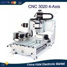 Nuevo CNC 3020 ZD 300 W 4 Ejes de mini Máquina De Grabado en madera enrutador máquina de corte con husillo de bolas