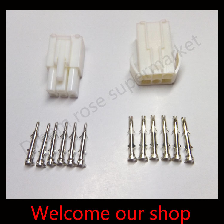 10sets 6 Way EL 6P Series Multipole Connectors Electrical wire terminals cable connector pin Kits Male