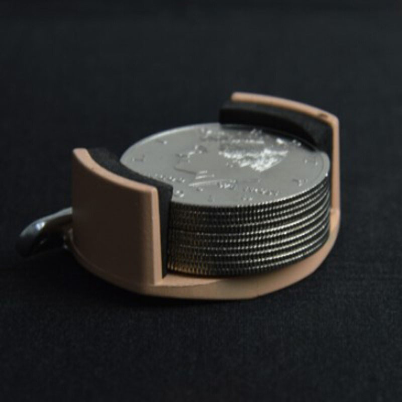 /Metall Münze Dumper + 10 stücke Half Dollar Palming Münzen Zaubertricks Erscheinen Magie Close Up Street Illusion Gimmick