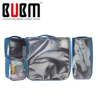 BUBM 4 Sets Packing Cubes For Travel Luggage Organizer Pouch Home Storage Organiser For Clothing Laundry Bag Toiletry Bag