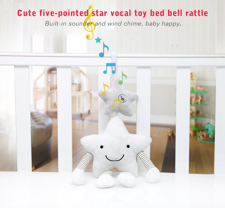 New Baby Toys For Stroller Music Star Jingles When Shook Crib Hanging Newborn Mobile Rattles Cute Educational Plush Toys