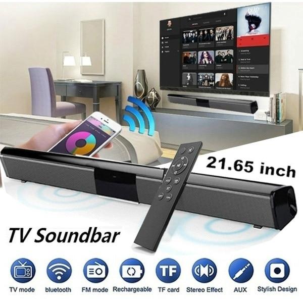 2019 Luxury Upgrade Best Sound Quality Wireless Bluetooth Soundbar Speaker TV Home Theater Soundbar Subwoofer with RCA Line