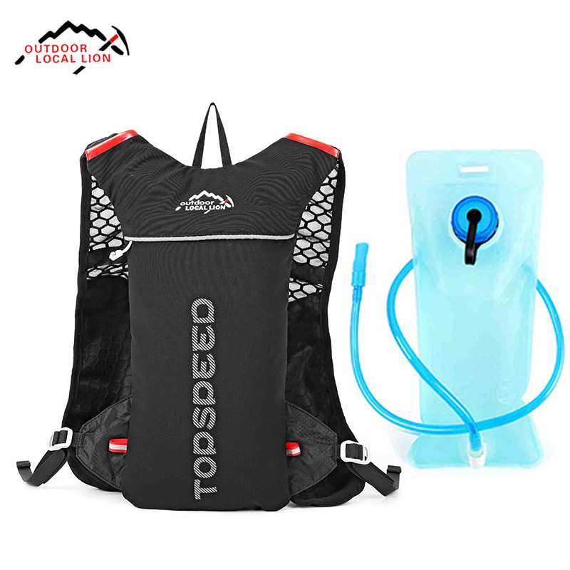 LOCAL LION 5L Waterproof Outdoor Bags Jogging Trail Running Backpack Lightweight 2L Hydration Climbing Sport Rucksack 3Colors