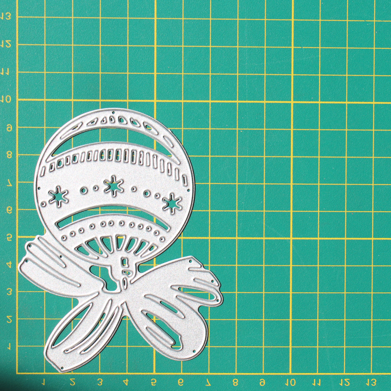Bow knot Bell Metal Cutting Dies DIY Scrapbooking Album Decoration Embossing Paper Card Craft 98 75 mm in Cutting Dies from Home Garden