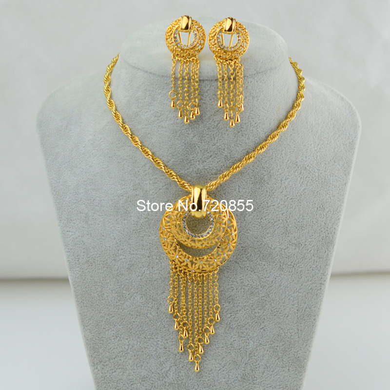 African set jewelry 22k gold plated jewelry rhinestone pendant african set jewelry 22k gold plated jewelry rhinestone pendant necklace 50cm clips earrings sets women ethiopianafrica new in jewelry sets from jewelry aloadofball Image collections