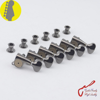 1Set Original Genuine 6 In line GOTOH SGS510Z HAPM Locking Height Adjust Guitar Machine Heads Tuners (Cosmo Black) MADE IN JAPAN