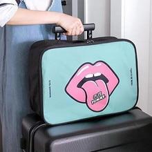 2018 Woman Storage Bag Cartoon Portable Travel Boarding