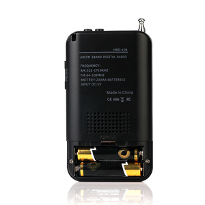 Image 5 - Mini Radio głośnik odbiornik LCD cyfrowy głośnik FM/Radio AM z funkcją wyświetlania czasu gniazdo Jack do słuchawek 3.5mm