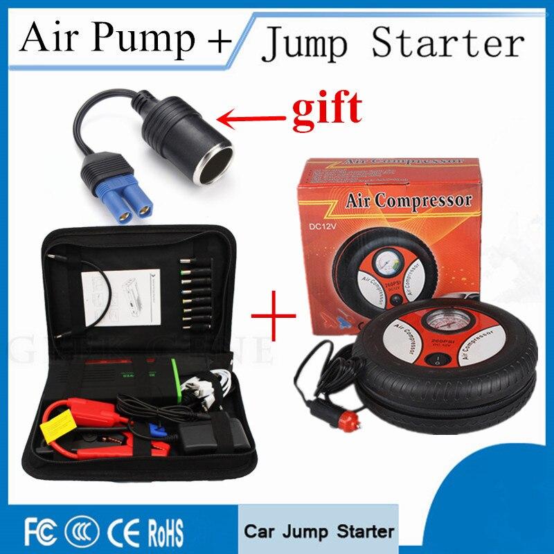 Car Jump Starter 68800mAh Portable Lighter Power Bank 600A Peak Starting Devcie 12V Car Charger For Car Battery & Air Compressor