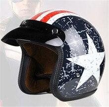 Trasporto libero moto rcycle casco jet Vintage casco Aperto del fronte retro 3 casco moto capacete Retro moto croce moto rcycle DOT approvato
