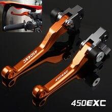 Para 450exc/450exc-f/450exc-r 450 exc EXC-F EXC-R f r 2005-2018 cnc motocicleta bicicleta da sujeira motocross pivô alavancas de freio embreagem