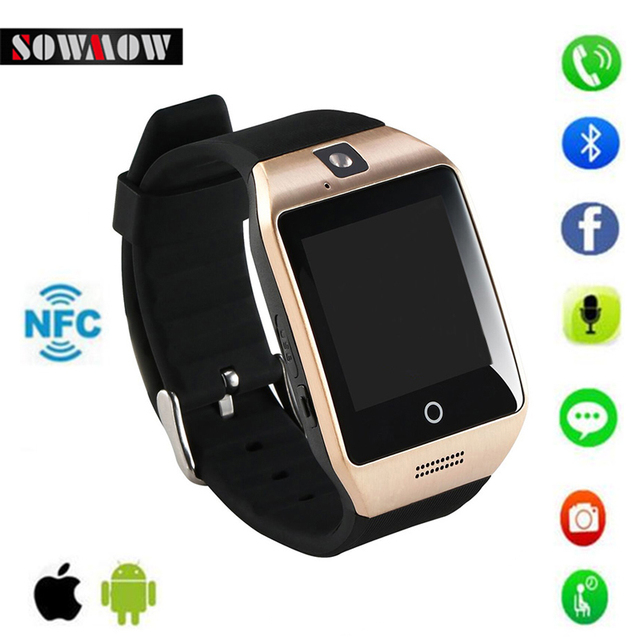 SOWMOW Bluetooth Smart Watch Phone clock Q18S with Camera sim wearable devices for Android IOS consumer electronics Smartwatch