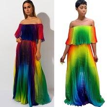 Summer chiffon beach dress new bohemian sexy print fashion casual loose large size