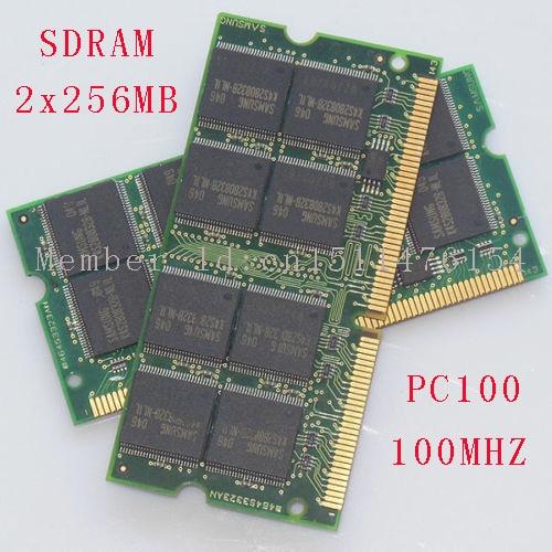 512MB 2x256MB PC100 100MHz SO-DIMM klēpjdators Piezīmjdatora atmiņa RAM bez ECC 144pin NEW Bezmaksas piegāde