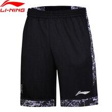 Клиренс) Li-Ning мужские баскетбольные соревнования шорты на сухой дышащей подкладке с карманами, спортивные шорты AAPN047 MKD1530