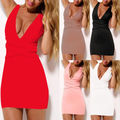 Women's Sexy Summer Bandage Slim Bodycon Evening Party Short Mini Dress