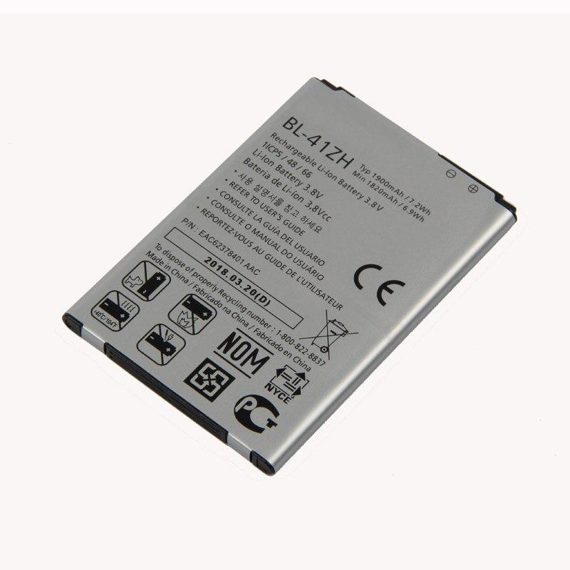 D'origine BL-41ZH batterie pour LG Leon H345 MS345 H340 H343 Risio C40 L50 D213N HOMMAGE 2 LS665 1900 mAh