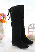 Women's Boots,New Sexy Knee High Flat Boots,thicken plush casual snow boots Large size winter shoes Free shipping A140
