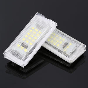 License-Plate-Light Led-Bulbs Car-Accessories Auto-Tail-Light White Canbus for BMW 2pieces
