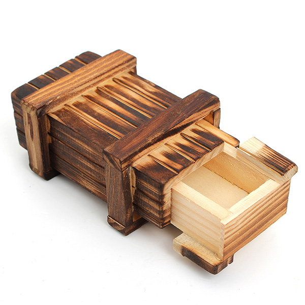Chinese Big Magic Cubes Vintage Classic Brain Magic Trick Wooden Puzzle Box Educational Toys Secret Drawer Gift 103*65*45 Mm