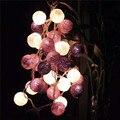 2.5 m 20 Led Luces de Cadena de Bolas de Algodón Dormitorio Decoraciones Del Banquete de Boda de Navidad Luces De Navidad Luces de Hadas de La Lámpara Guirnalda
