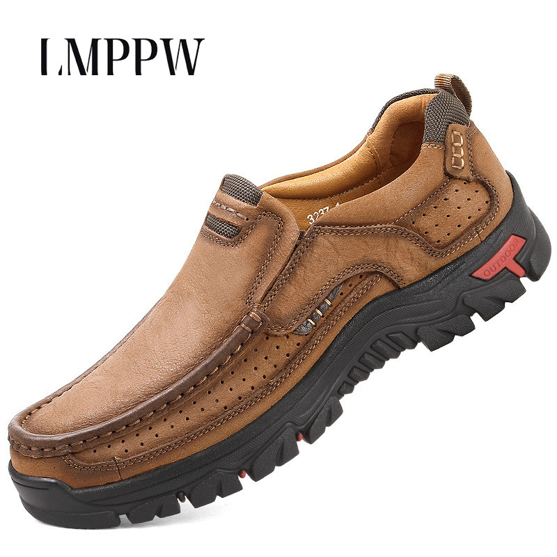 Genuine Leather Men Loafers Shoes Breathable Fashion Men Work Safety Shoes Luxury Brand Men Moccasins High Quality Men SneakersGenuine Leather Men Loafers Shoes Breathable Fashion Men Work Safety Shoes Luxury Brand Men Moccasins High Quality Men Sneakers