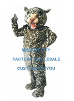 Big Cat Leopard Mascot Costume Adult Size Wild Theme Carnival Party Cosply Mascotte Outfit Suit Fancy Dress EMS FREE SHIP SW990