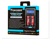 Tablet Chargers Test battery capacity LCD 3.7V 18650/26650/16340/14500/10440/18500 Battery Charger with screen Free shipping
