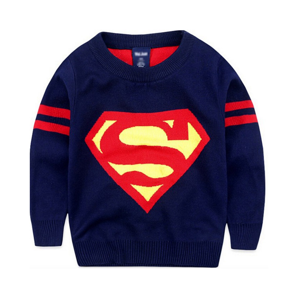 New 2018 Boys Sweaters Superman Printing Boys Pullover Knit Sweaters ...