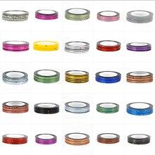 1 rolo mix cor rolls striping fita etiqueta do prego design sliders para decalques do prego decoração da arte do prego acessórios
