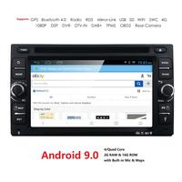 Crazy Sales QuadCore Pure Android9.0 Car PC Tablet Car DVD Player 6.2''GPS Navigation Car Stereo Radio Bluetooth WIFI SWC DAB SD