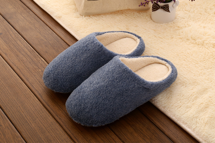 2019 Autumn Winter Man Slippers Indoor Floor Shoes Warm Plush Slippers Candy Color Women Home Shoes Soft Slippers Pantuflas