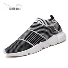 купить New Mesh Men Casual Running Shoes Men Sports Shoes Socks Light Comfortable Breathable Walking Sneakers кроссовки по цене 894.93 рублей
