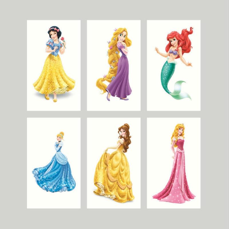 ≧100 unids 3*5 cm Disney princesa Blancanieves Cenicienta ...