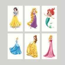 100pcs 3*5cm Disny Princess Snowwhite Cinderella Waterproof Temporary Tattoos Body Sticker For Party Supplies Decors Favor