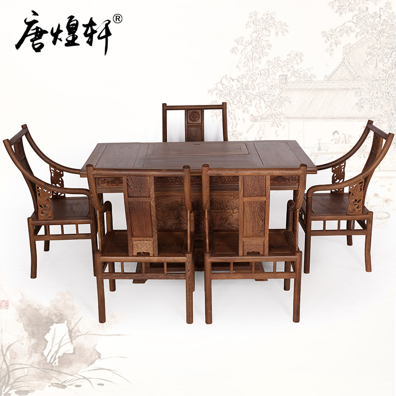 Mahogany Furniture, Carved Wood Kung Fu Tea Table Wooden Tea Tables And Chairs Combined Chinese Antique Tea Tea Table Table