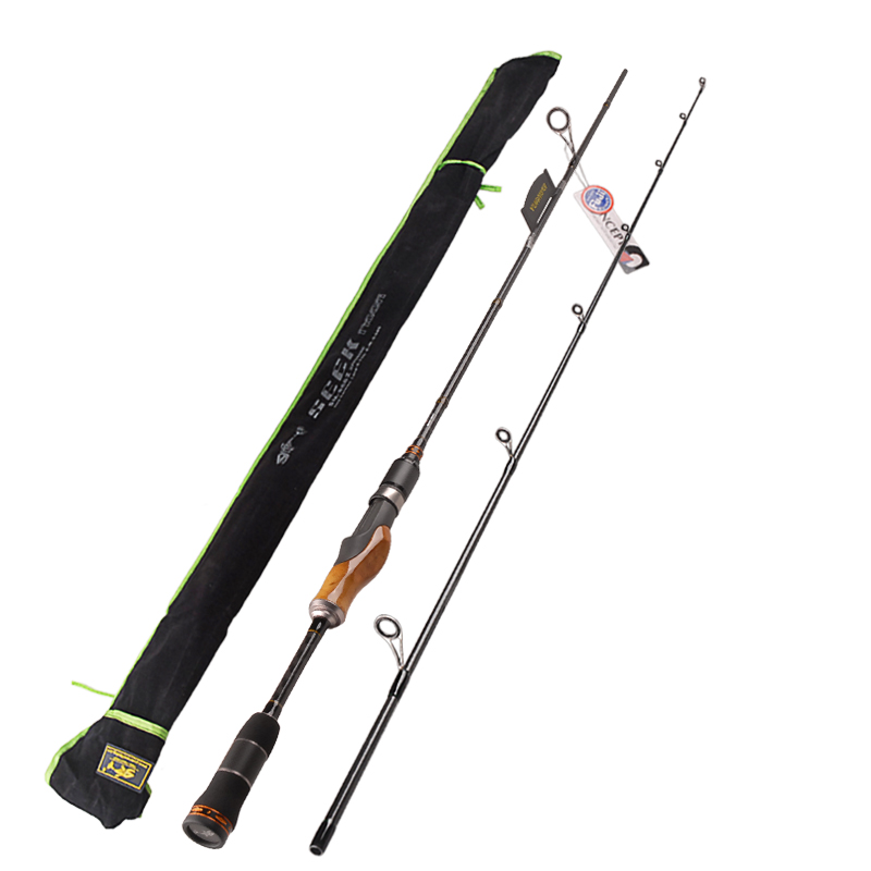 2 Secs Wood Handle Spinning Fishing Rod 1.98m 2.1m 2.4m Power:ML/M/MH Carbon Lure Rods Vara De Pesca Peche Stick FishingTackle 2 secs wood handle spinning fishing rod 1 98m 2 1m 2 4m power ml m mh carbon lure rods vara de pesca peche stick fishingtackle