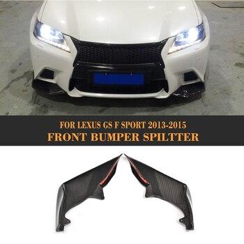 carbon fiber front bumper flaps apron lip Spoiler splitters for Lexus GS F Sport Sedan 4 Door Only 13-15 GS350 front lip for lexus gs350