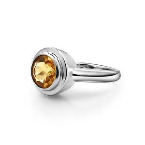 Image 3 - Серьги и кольцо женские из серебра 925 пробы с цитрином