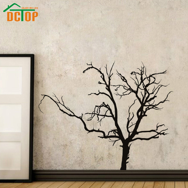 Adhesive Scary Bare Removable Black Tree Wall Sticker Living Room Vinyl Art Wall  Decal For Kids