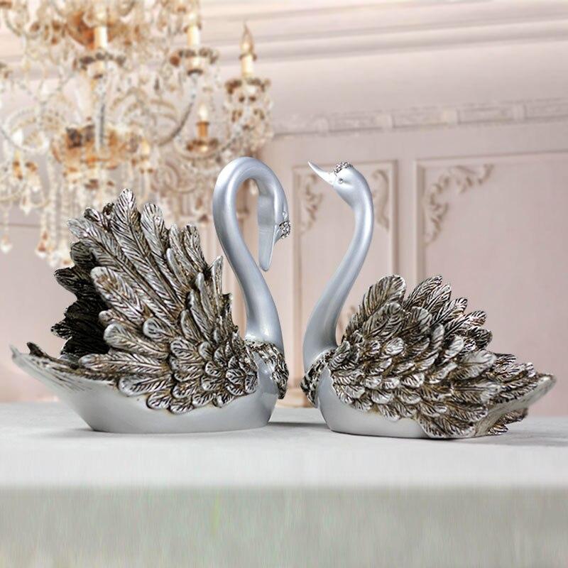 Home Decor Handicrafts: European Creative Modern Fashion Swan Model Handicrafts
