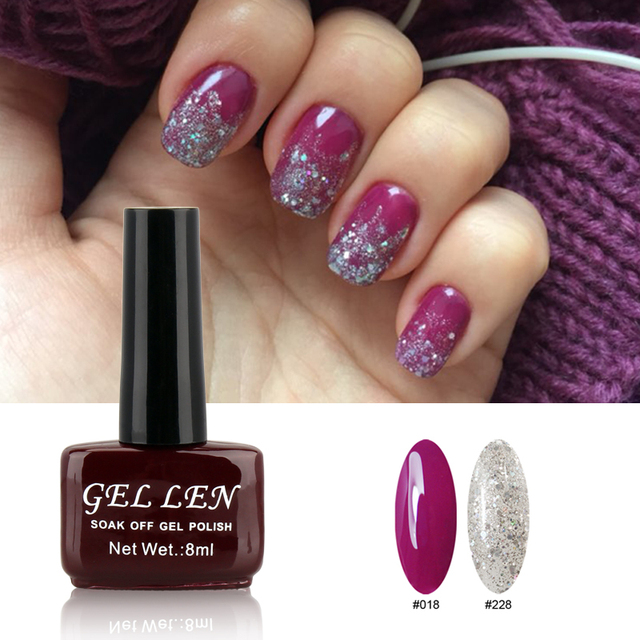 Gellen Gel Polish Glitter Color And Pur Color Uv Gel Hot Sale Nail