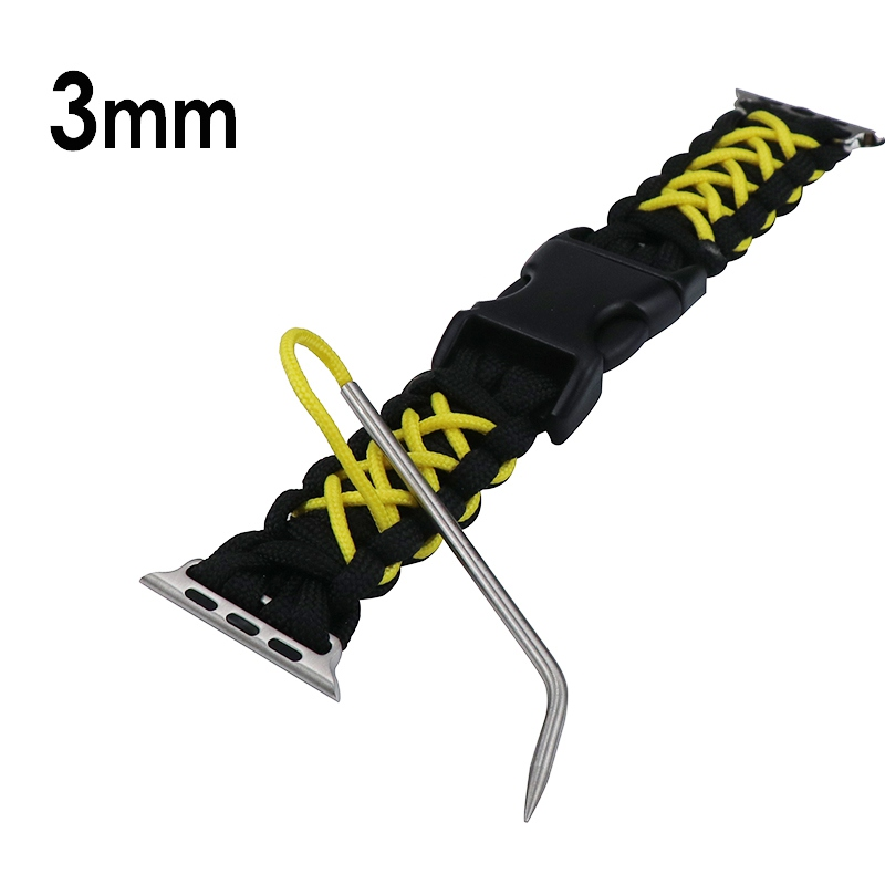 3mm Paracord Lacing Stitching Weaving Needles Elbow Design Stainless Steel Bracelet Knitting Needle Umbrella Rope Camping Tools
