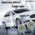2 Шт. Автомобиль Логотип Лампы Для Ford Focus 3 Mondeo Explorer Fusion 5 2011-2016 Зеркало Заднего Вида LED Призрак Тень Проектор Свет автомобиль Для Укладки