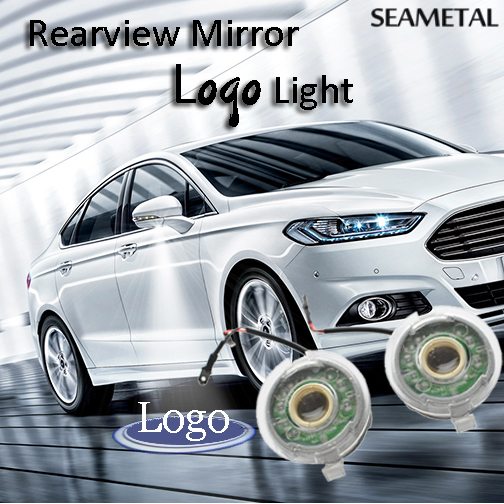 2Pcs Car Logo Lamps For Ford Focus 3 Explorer Mondeo Fusion 5 2011-2016 Rear Mirror LED Ghost Shadow Projector Light Car-Styling 1pcs 4d led rear emblem car logo light for ford focus mondeo car led badge bulb car styling