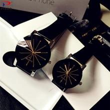 Relogio Feminino модные роскошные парные Кварцевые часы циферблат час цифровые женские часы мужские кожаные Наручные часы леди подарок