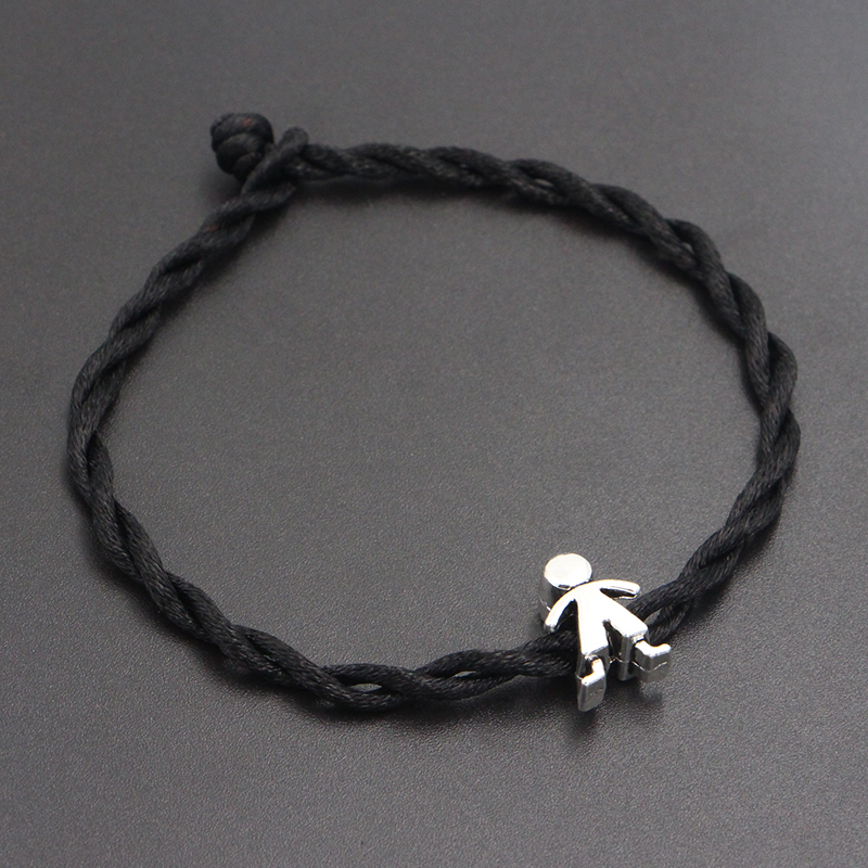 2020 New Cute Boy Beads 4mm Red Thread String Bracelet Lucky Red Handmade Rope Charm Bracelet for Women Men Jewelry